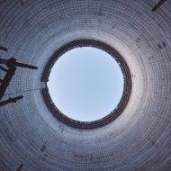 Intérieur d'une tour de refroidissement d'un réacteur nucléaire