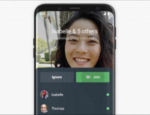 Présentation de l'interface permettant de rejoindre un apple de groupe sur WhatsApp