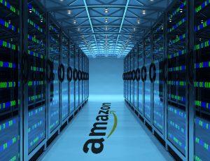 Aperçu d'un data center chez Amazon.
