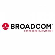 Le logo de Broadcom sur un fond blanc.