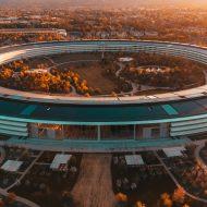 les bureaux Apple Park d'Apple dans la Silicon Valley
