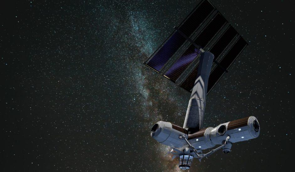 Vision d'artiste de la station spatiale d'Axiom.