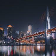 Le nouveau pont de Chongqing en Chine