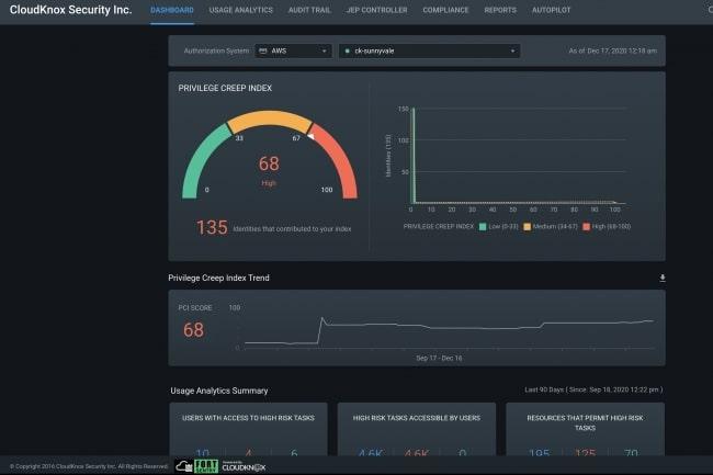 interface cloudknox security