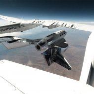 Le VSS Unity se détachant de son avion porteur.