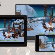 Trois écrans affichant le jeu Assassin's Creed sur Facebook Gaming.