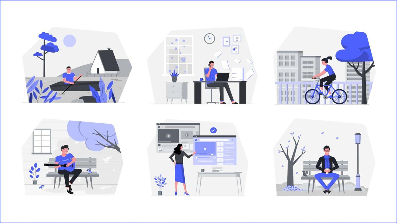 Cet outil permet de créer des illustrations multicolores gratuitement !