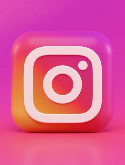Le logo Instagram en 3D.