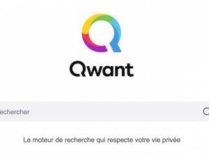 Ecran d'accueil du moteur de recherche Qwant avec sa barre de recherche