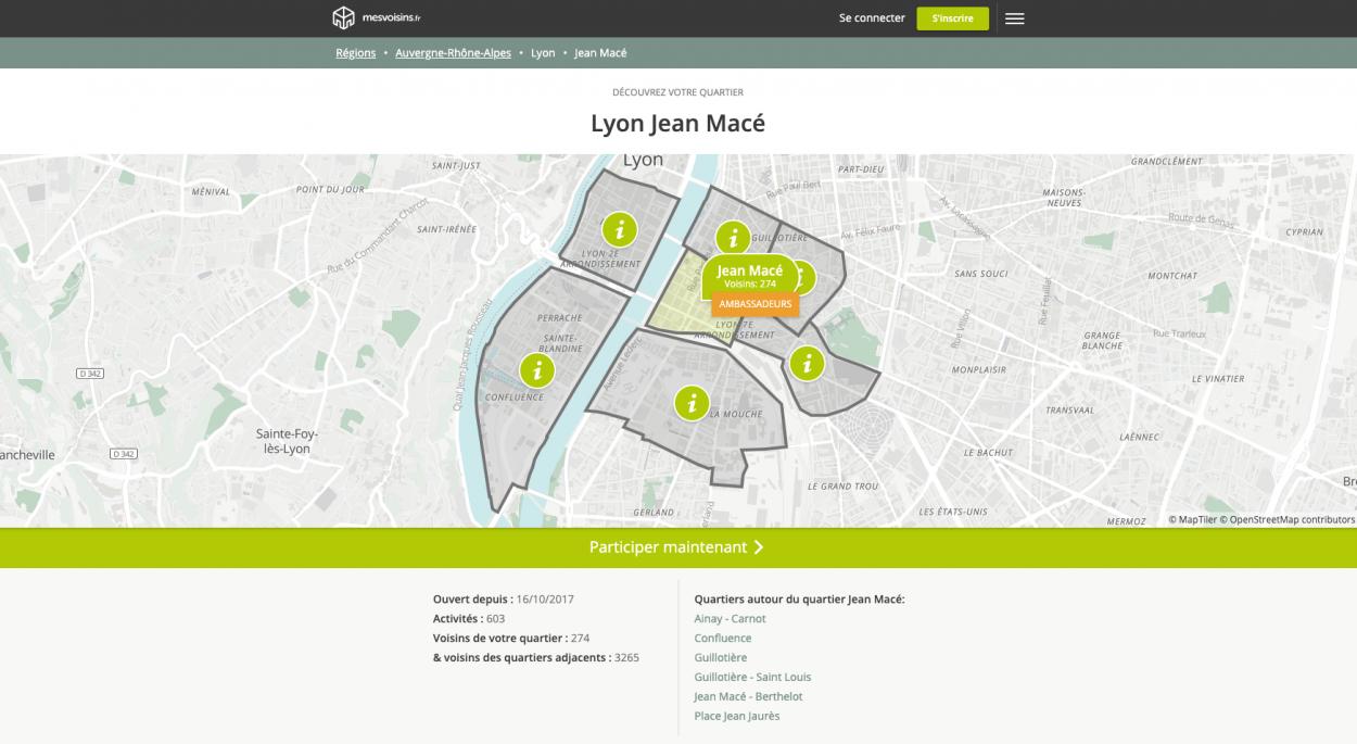 capture d'écran du site mesvoisins.fr