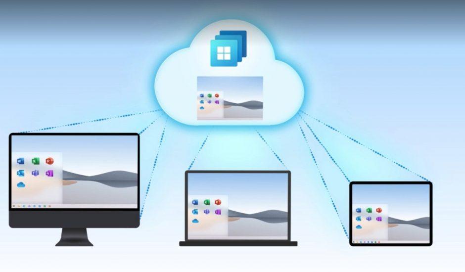illustration du cloud Windows 365