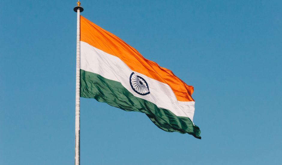 Le drapeau de l'Inde.
