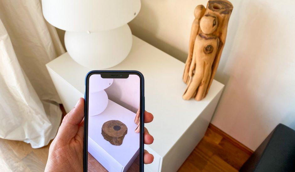 un effet de réalité augmentée sur un objet decoratif