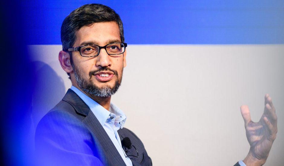 Le PDG de Google, Sundar Pichai.