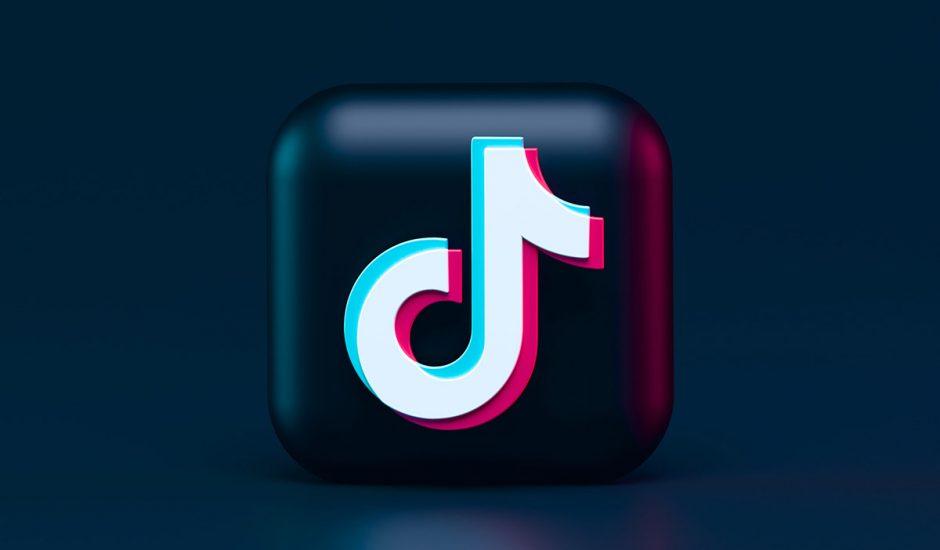Illustration du logo TikTok en 3D.