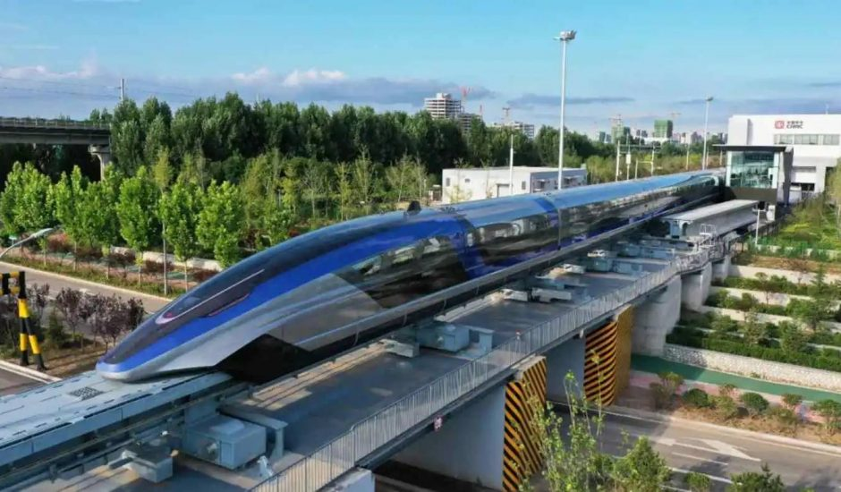 Le train maglev chinois.
