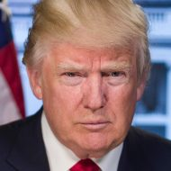 Un portrait de Donald Trump.