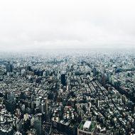 Vue aérienne de la ville de Taipei, capitale de Taïwan