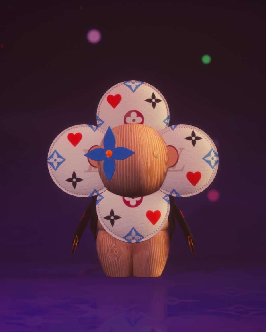 la mascotte du nouveau jeu mobile de Louis Vuitton