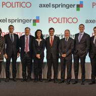 Photo des dirigeant d'Axel Springer et de Politico lors de l'annonce de la création de Politico Europe.