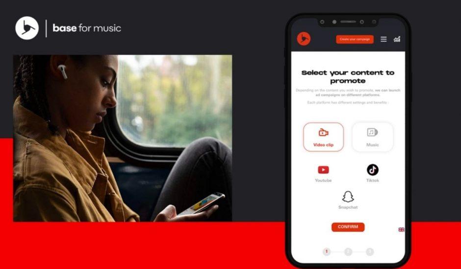 présentation startup Base for music