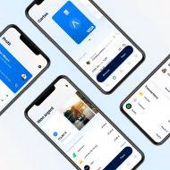 4 écrans de téléphones présentant l'interface de Lydia.