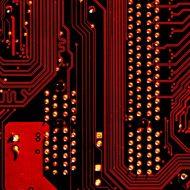 Photographie d'un circuits de microprocesseur reposant sur l'intelligence artificielle pour sa conception.