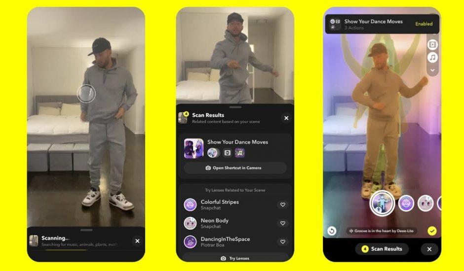 Snapchat améliore Scan, un outil pour détecter les objets.