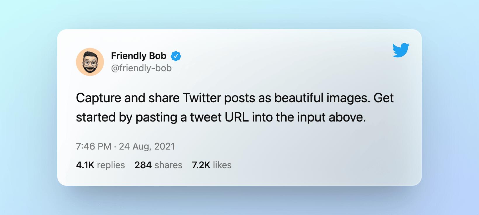 exemple de tweet créé dans poet.so