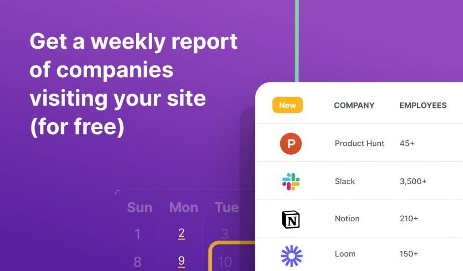 aperçu de rapport proposé par Clearbit
