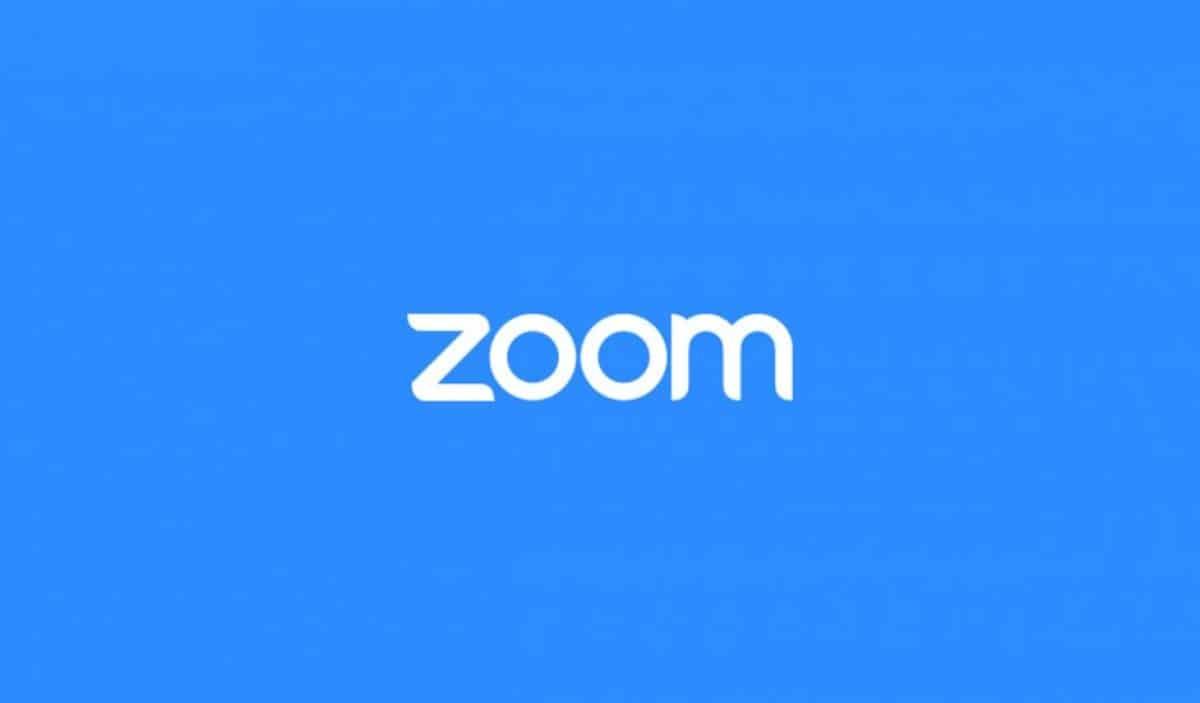 Logo Zoom blanc sur fond bleu