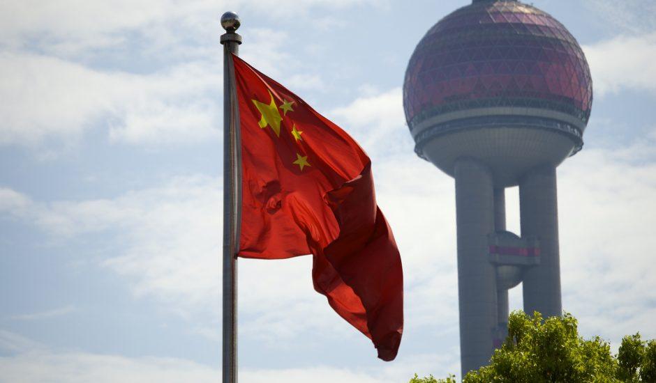 Photo d'un drapeau chinois. La Chine scrute et censure les algorithmes.