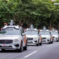 Une flotte de voitures autonomes de Didi Chuxing