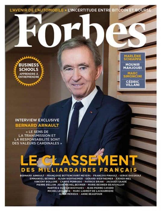 bernard arnault en couverture de Forbes