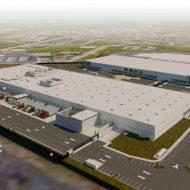 Croquis des trois nouveaux bâtiments de Google à San José