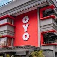 Facade d'un hôtel de la marque Oyo