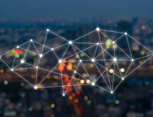 représentation graphique IoT sur une ville