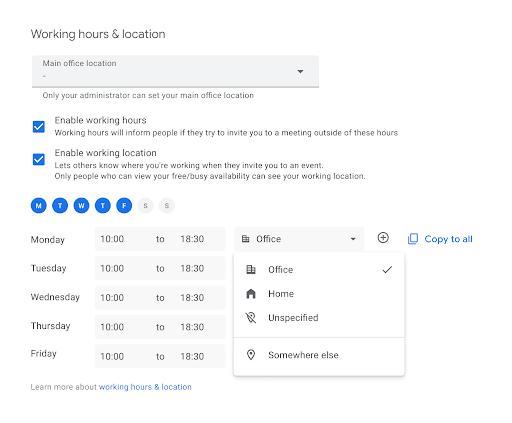 comment inscrire son lieu de travail dans Google Agenda