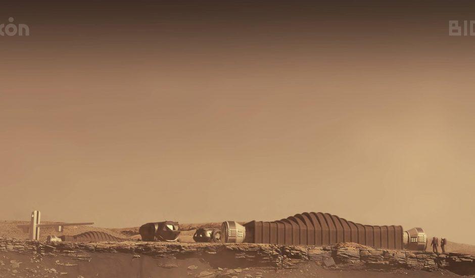 Un habitat à la surface de Mars