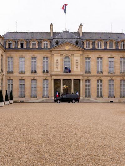 Le Palais de l'Élysée, siège de la présidence de la République Française