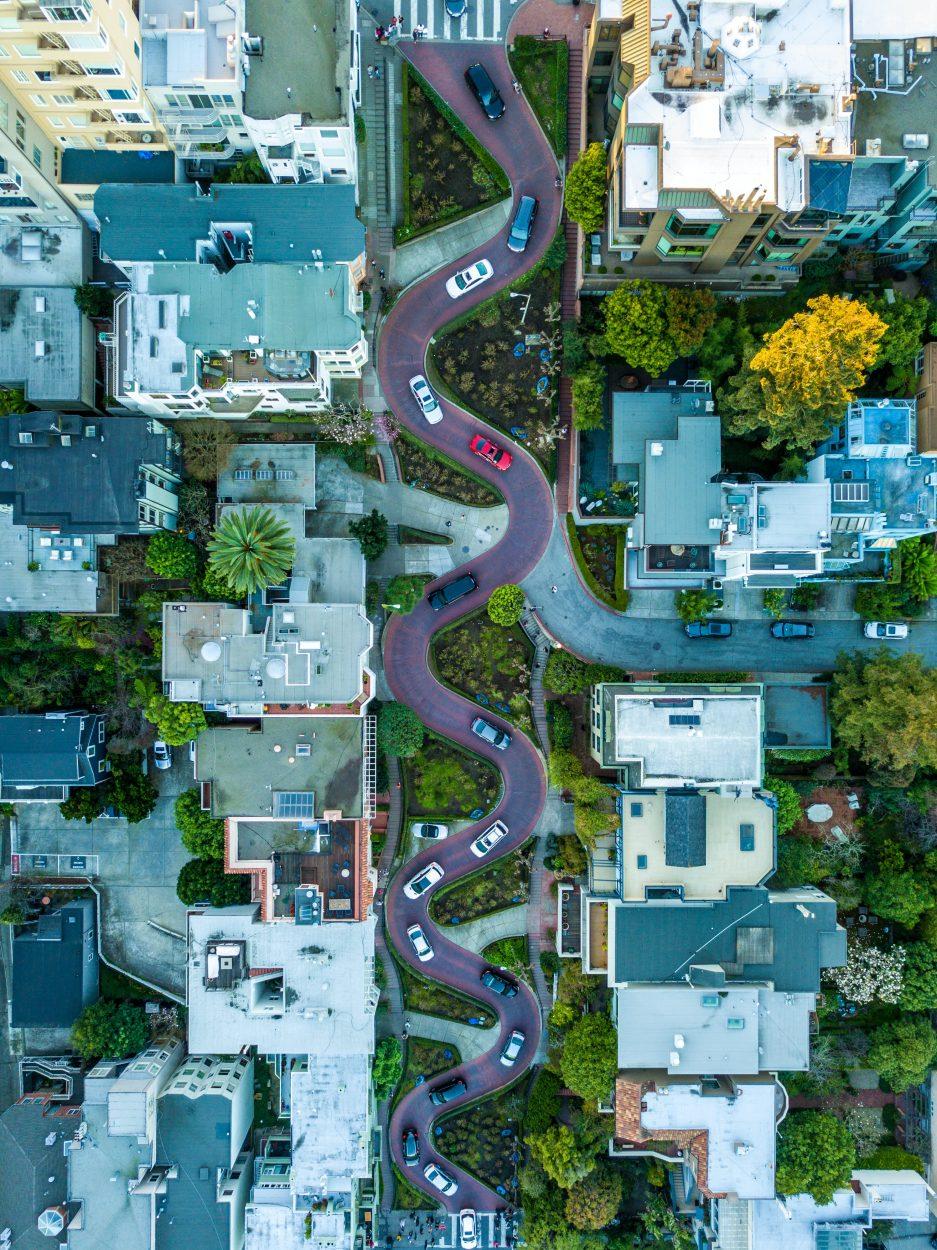 Vue aérienne de San Francisco.