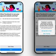 Aperçu de l'App Tracking Transparency.