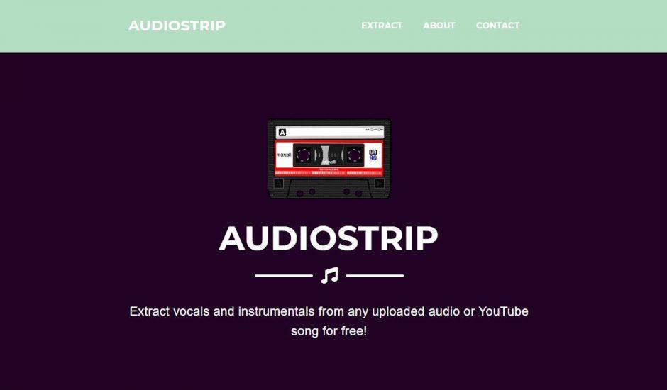 présentation de l'outil AudioStrip
