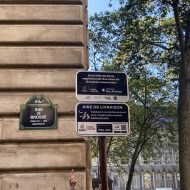 signalétique des aires de livraisons connectées à Paris