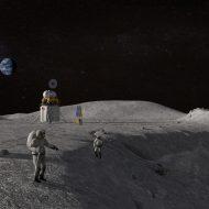 Aperçu 3D de la future mission Artemis.