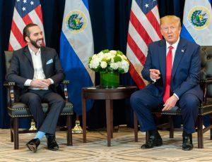 Le président du Salvador Nayib Bukele, en compagnie de Donald Trump en 2019.