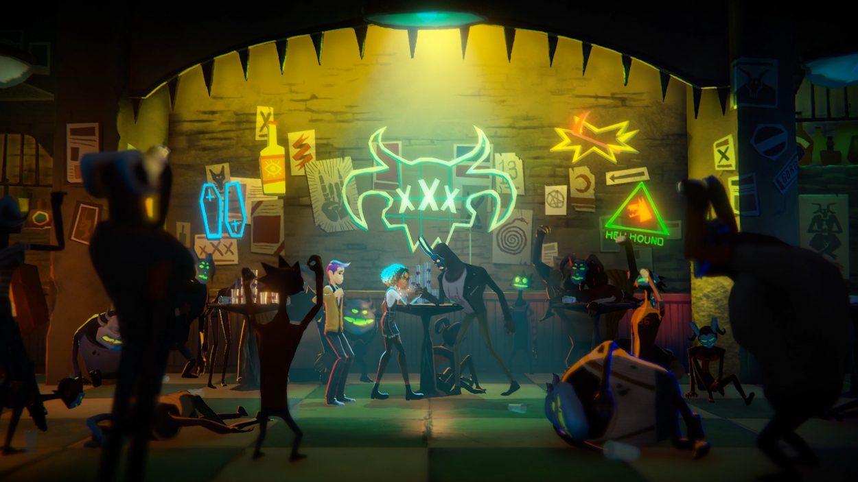 Illustration du titre Afterparty développé par Night School Studio