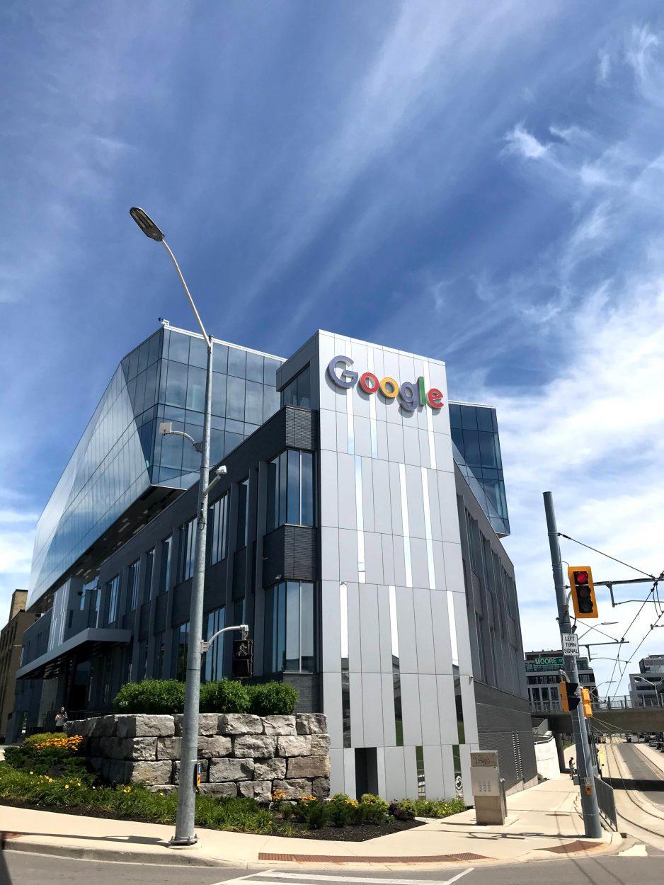 Des bâtiments de Google.