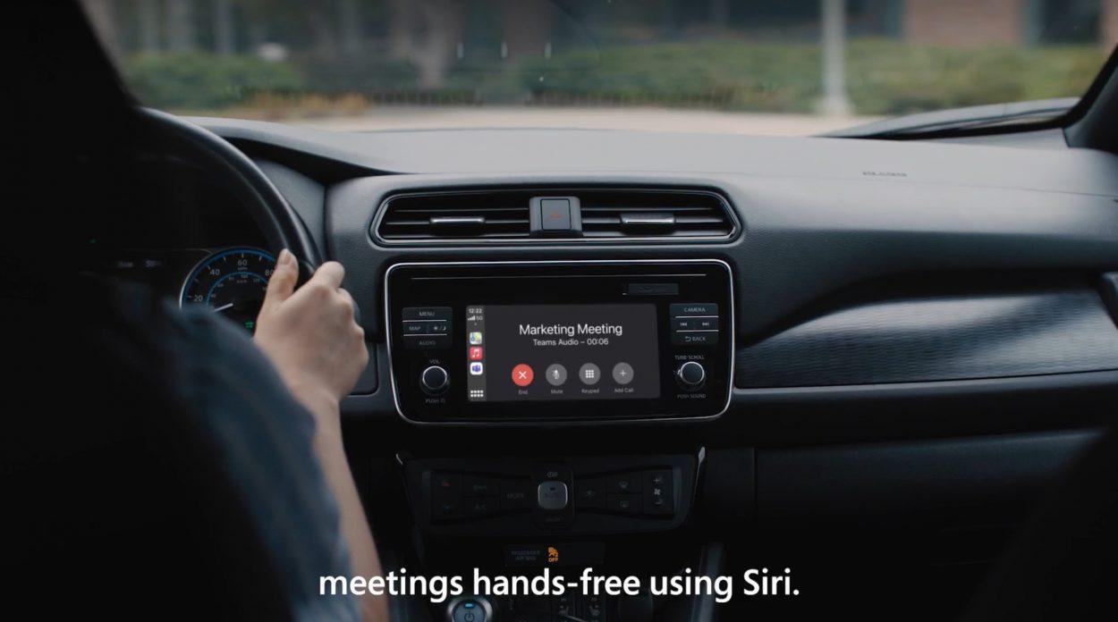 Utilisation de Teams en voiture via Apple Carplay