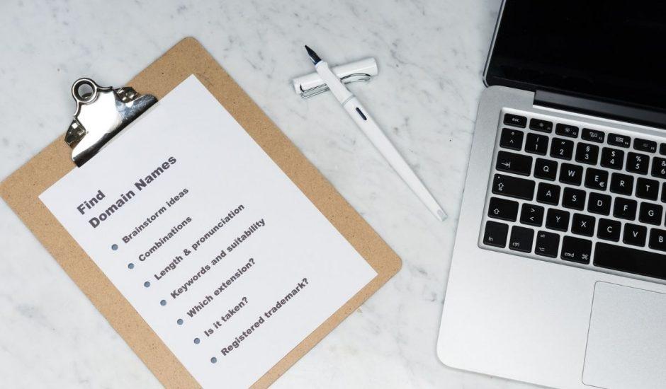 nom de domaine checklist
